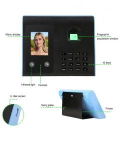 Biometric face recognition time attendance machine setup quick Video guide