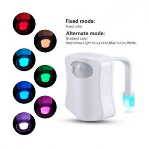 Body Activated Motion Toilet Nightlight LED Smart Sensor Lamp 8 Color