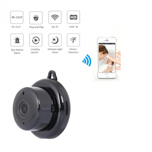 Wifi Smart Portable Home Office IP Wireless CCTV Mini Camera +64gb