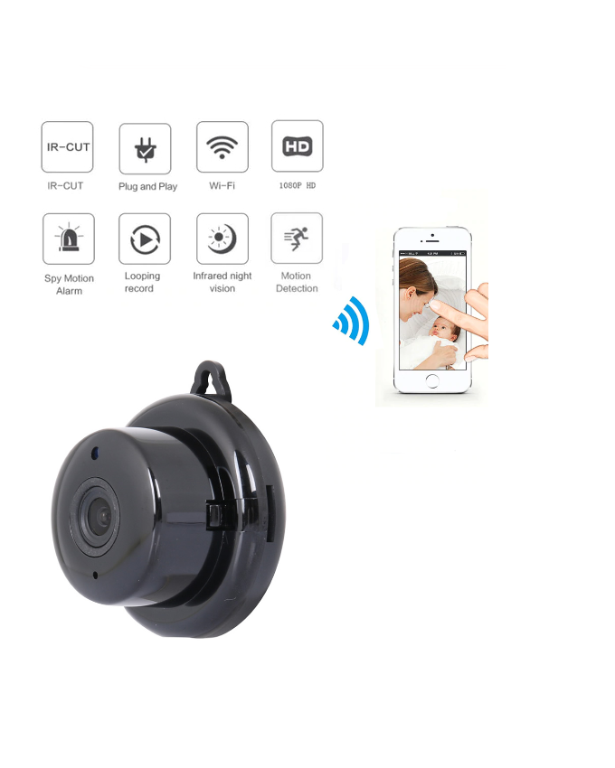 How to setup the Wifi Smart Home Security IP Wireless Small CCTV Camera