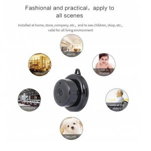 Wifi Smart Portable Home Office IP Wireless CCTV Mini Camera + 64gb