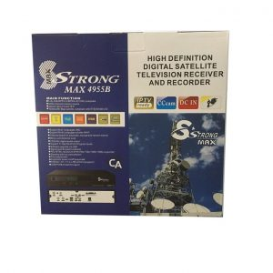 Strongmax 4955B free to air satelite tv decoder full HD HDMI RF usb upgrade