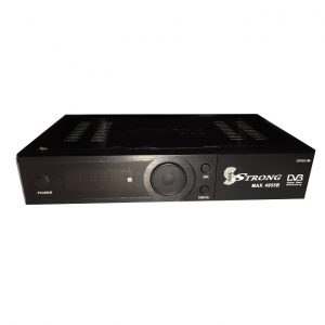 Strongmax Free To Air Decoder 4955B complete set With 2 Dishes 2 Lnbs Cable Rf Diseq