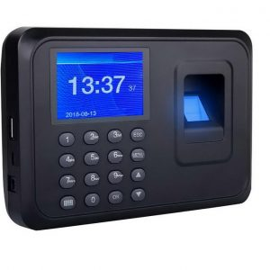 Biometric Time Attendance Machine With Clocking And Out Report Viewing and Backup Battery