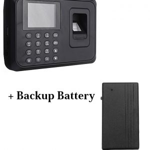 Biometric Fingerprint Time Attendance Machine+Backup Battery