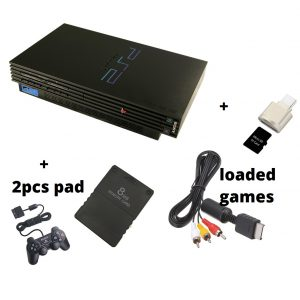 Sony Playstation 2 Complete Set With 2 Foreign Pads Loaded Games Module Av Foreign Used