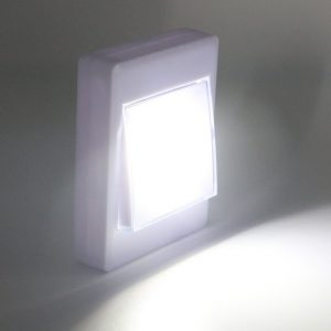 Powerful Switch Torch LED Mini Wall Flashlight Home Lamp Battery Powered Magnet And Nail Back Hang