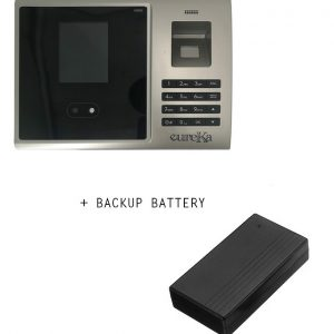 Biometric Staffs Attendance Face Fingerprint Machine clockin/out report view with Backup Battery