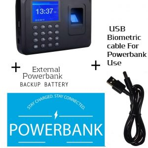 Fingerprint Attendance Machine Clock In/out+Powerbank Backup