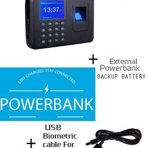 Fingerprint Attendance Machine Clock In/out+Powerbank Backup