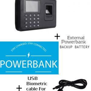 Biometric Fingerprint Staff Time Attendance+Powerbank Backup