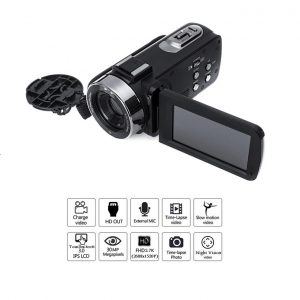 Digital Camcorder Video Camera 30MP 3.0″ Touchscreen 2.7k ULTRA UHD