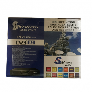 Strongmax 4954D Free To Air Satelite Decoder Full HD RF Out IPTV