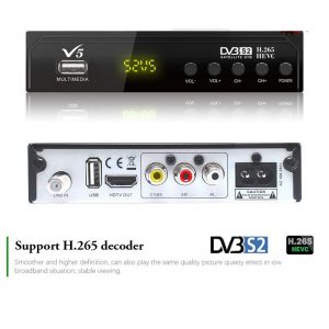 Free to air Satellite HEVC H.265 IPTV HD Decoder with Wifi dongle HDMI