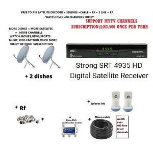 Strong SRT 4935 Decoder Free To Air MYTV support with 2 dish