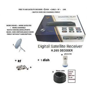 free to air satellite tv decoder H.265 IPTV Iks HDTV receiver with 1 dish